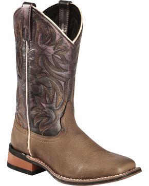 Laredo Women's Sanded Western Boots, Dark Brown, hi-res