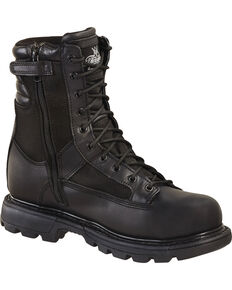 "Thorogood Men's 8"" Gen Flex 2 Tactical Trooper Boots - Soft Toe, Black, hi-res"