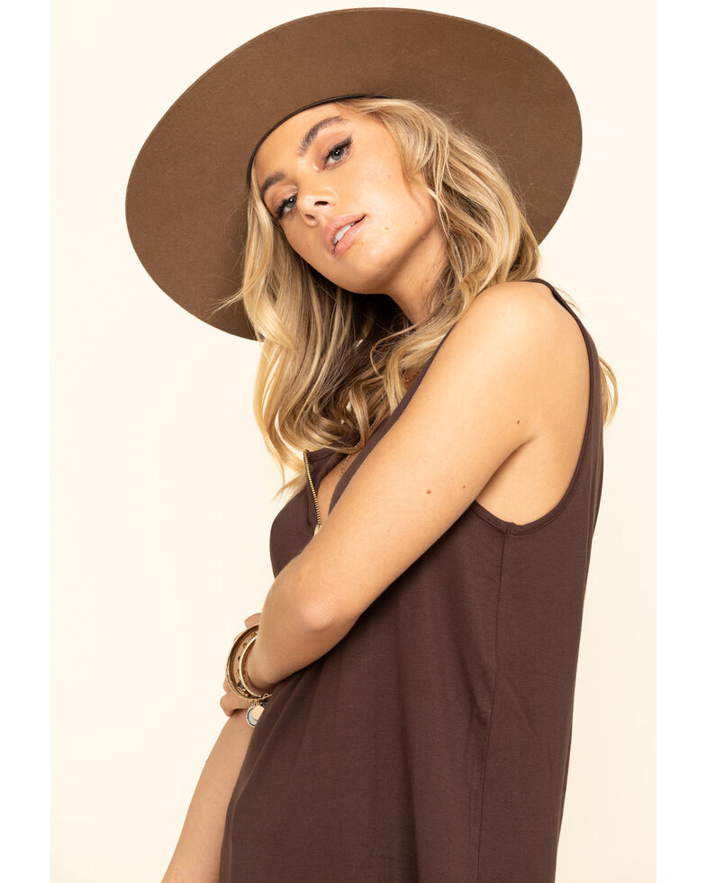 Tasha Polizzi Women's Brown Abigail Tank, Brown, hi-res