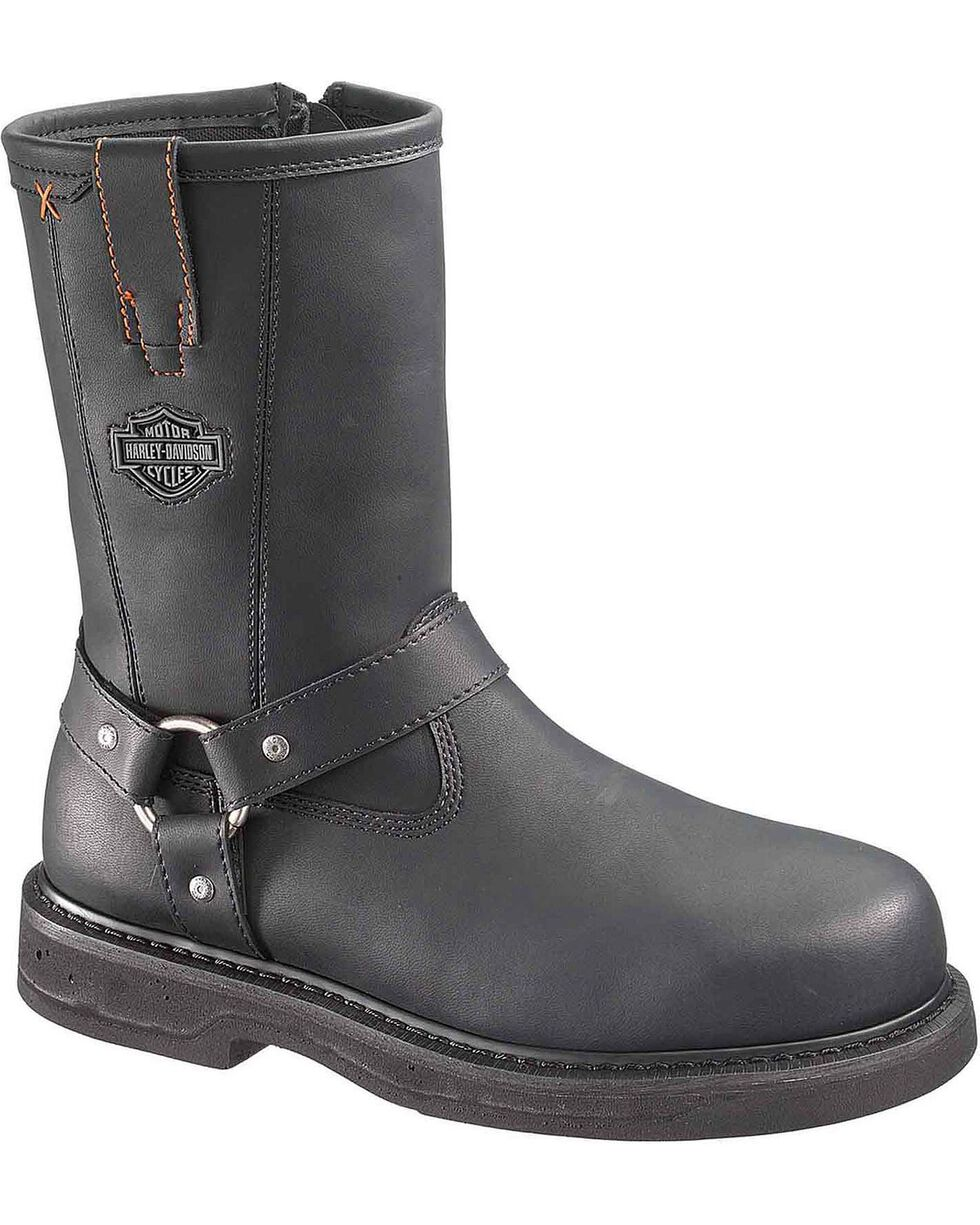 Harley-Davidson Men's Bill Steel Toe Motorcycle Boots, Black, hi-res