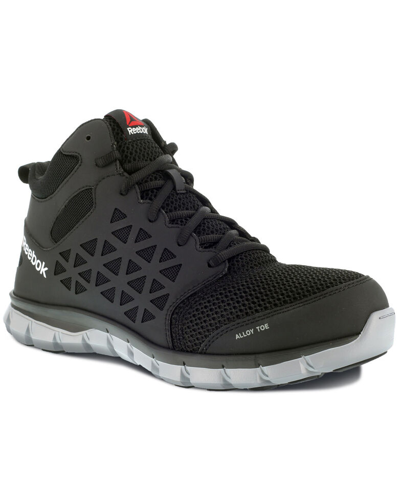Reebok Men's Sublite Static Dissipative Work Shoes - Alloy Toe, Black, hi-res