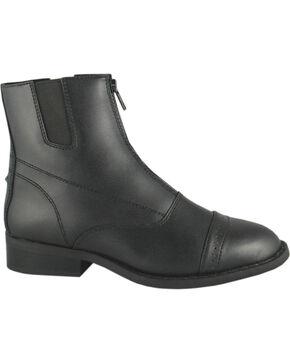 Smoky Mountain Women's Zipper Paddock Boots, Black, hi-res
