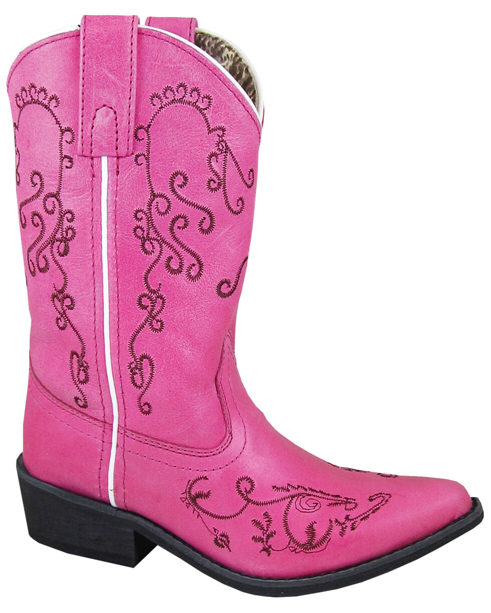 Smoky Mountain Girls' Jolene Western Boots - Snip Toe, Pink, hi-res