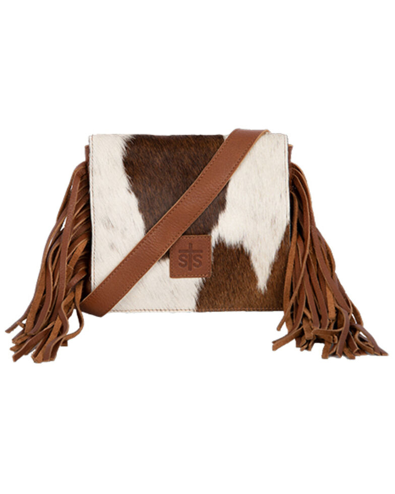 STS Ranchwear Women's Cowhide Miss Kitty Handbag, Brown, hi-res