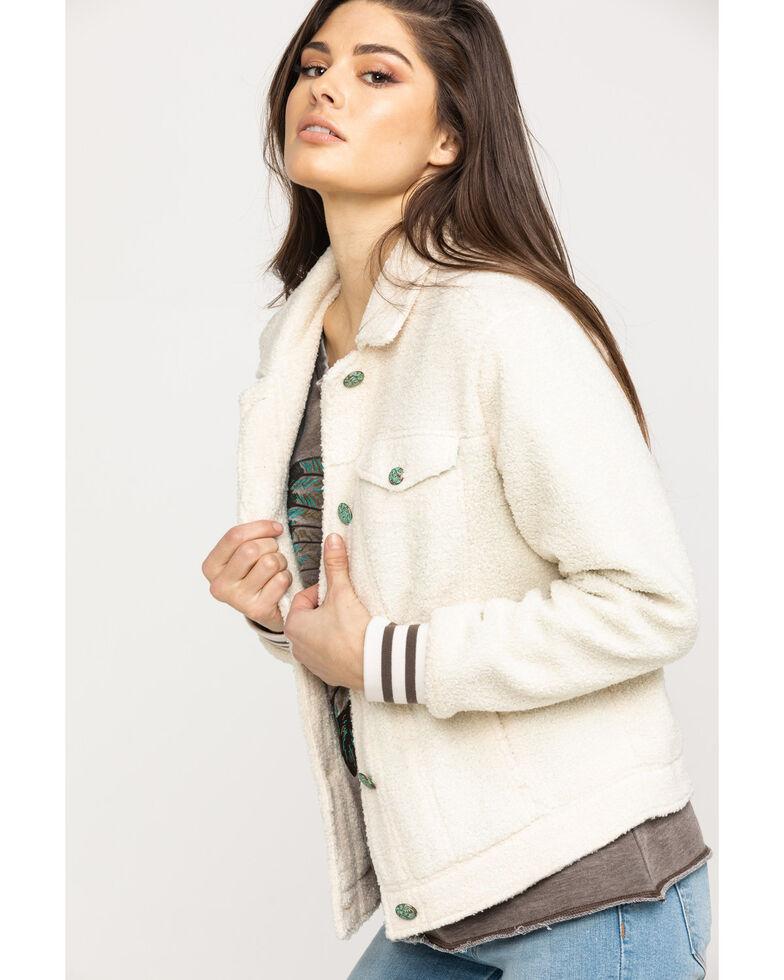 Ariat Women's Steer My Way Trucker Jacket, White, hi-res