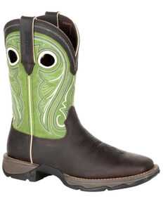 Durango Women's Lady Rebel Lime Western Boots - Square Toe, Brown, hi-res
