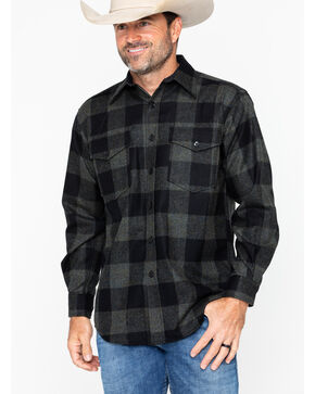 Pendleton Men's Blue Green Buffalo Check Guide Shirt, Blue, hi-res