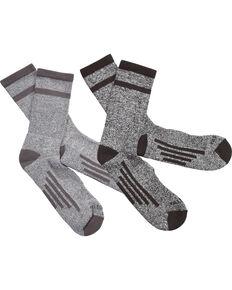 Justin Men's JUSTDRY Half Cushion 2-Pair Socks, Black, hi-res