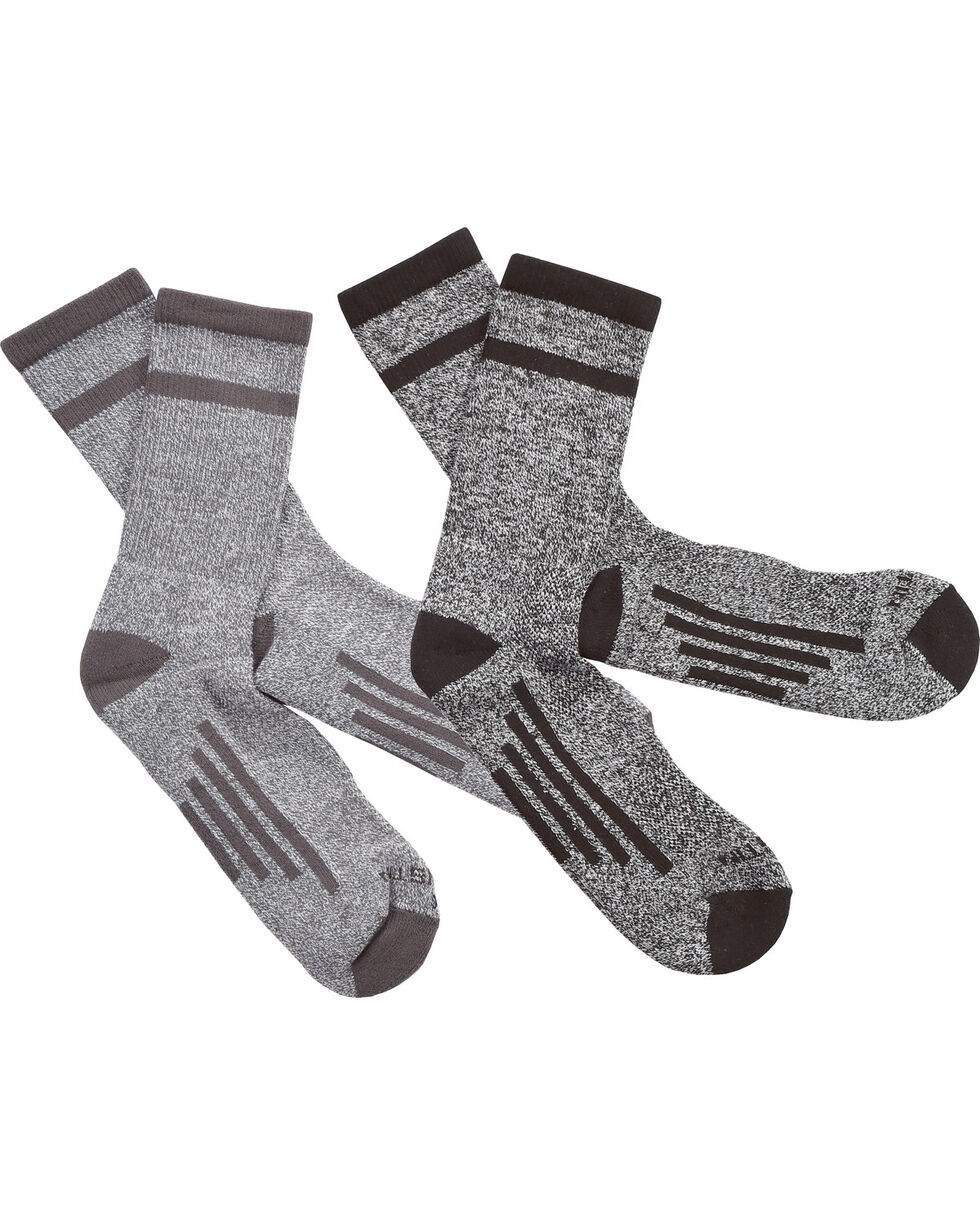 Justin Men's JUSTDRY Half Cushion 2-Pair Socks, Black, hi-res
