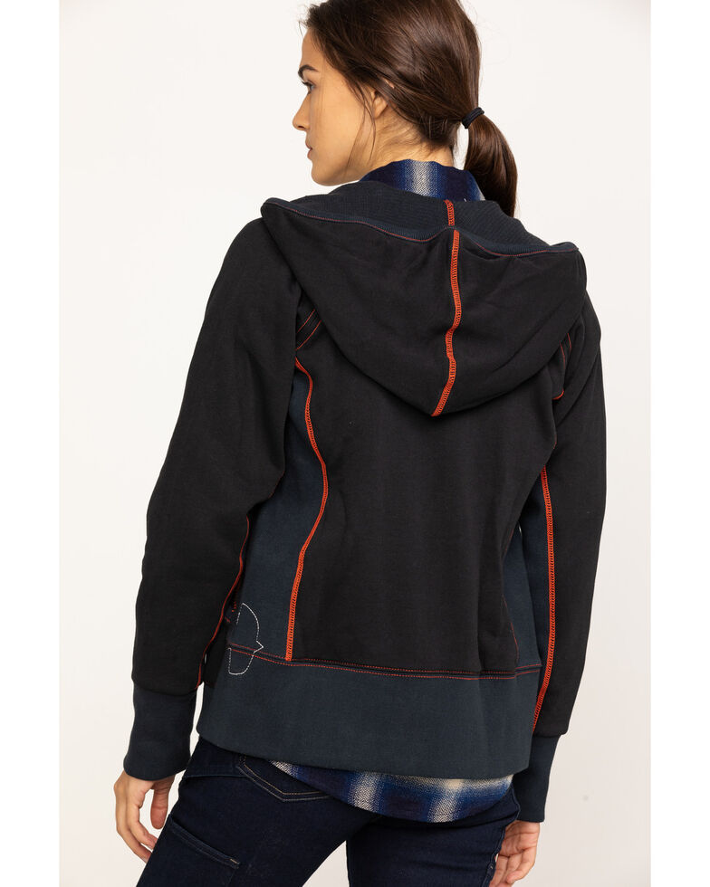 Dovetail Workwear Women's Double Layer Zip Hoodie , Black, hi-res