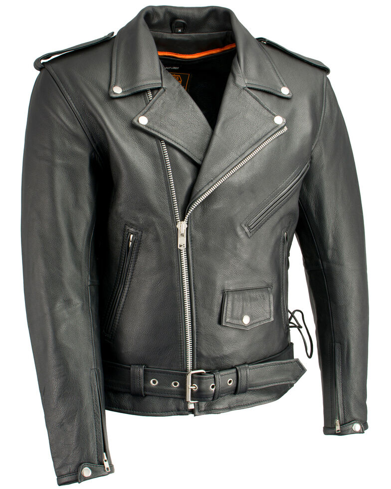 Milwaukee Leather Men S Classic Side Lace Concealed Carry Motorcycle Jacket Boot Barn