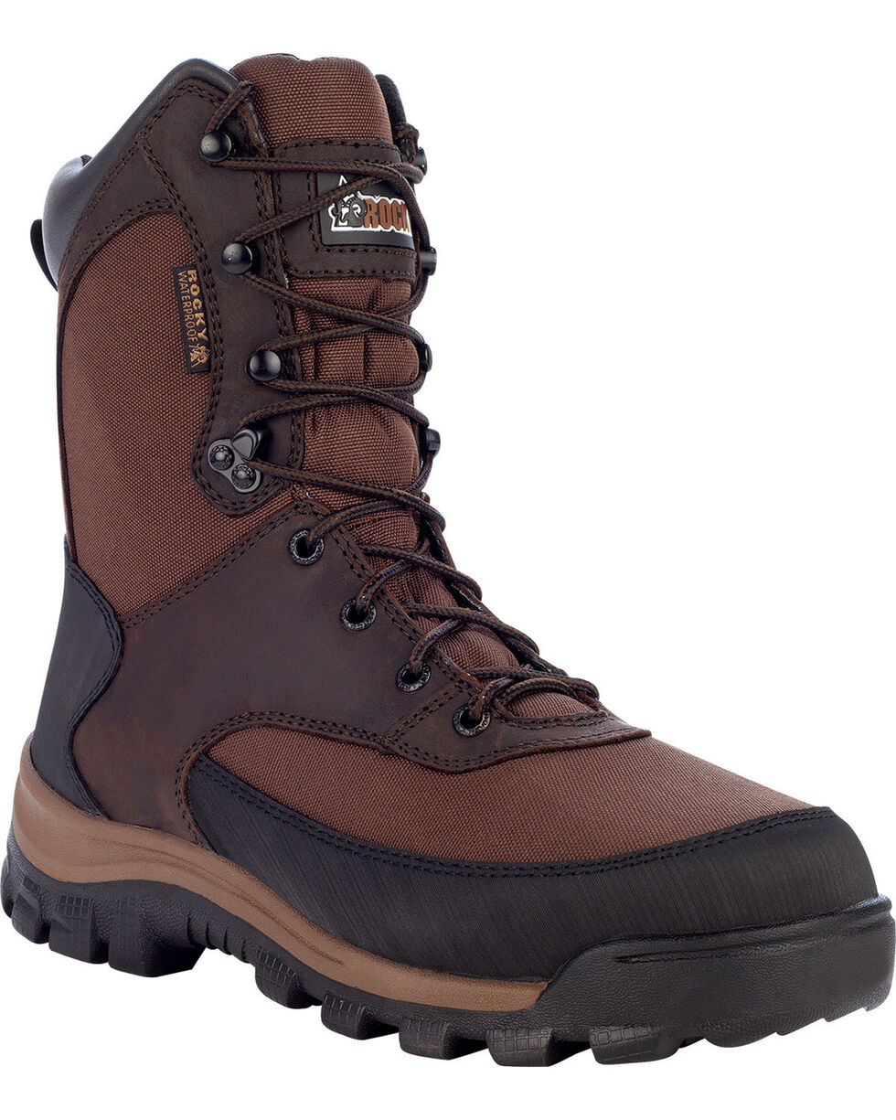 Rocky Core Waterproof Insulated Outdoor Boots - Round Toe, Brown, hi-res