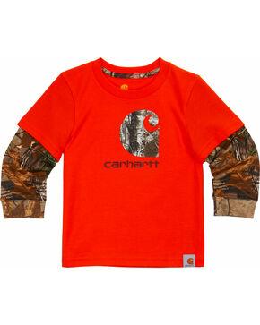 Carhartt Toddler Boys' Orange Iconic C Camo Tee , Orange, hi-res