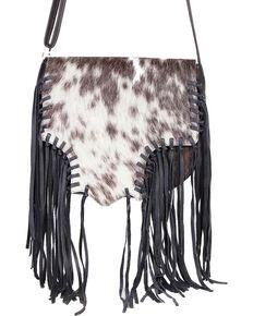 Scully Women's Fringe Hair Handbag, Animal Prt, hi-res