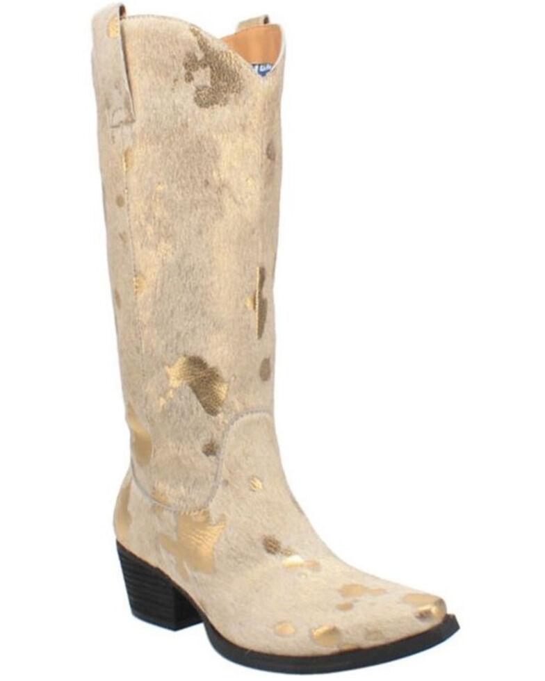 Dingo Women's Giddy Up Western Boots - Snip Toe, Gold, hi-res