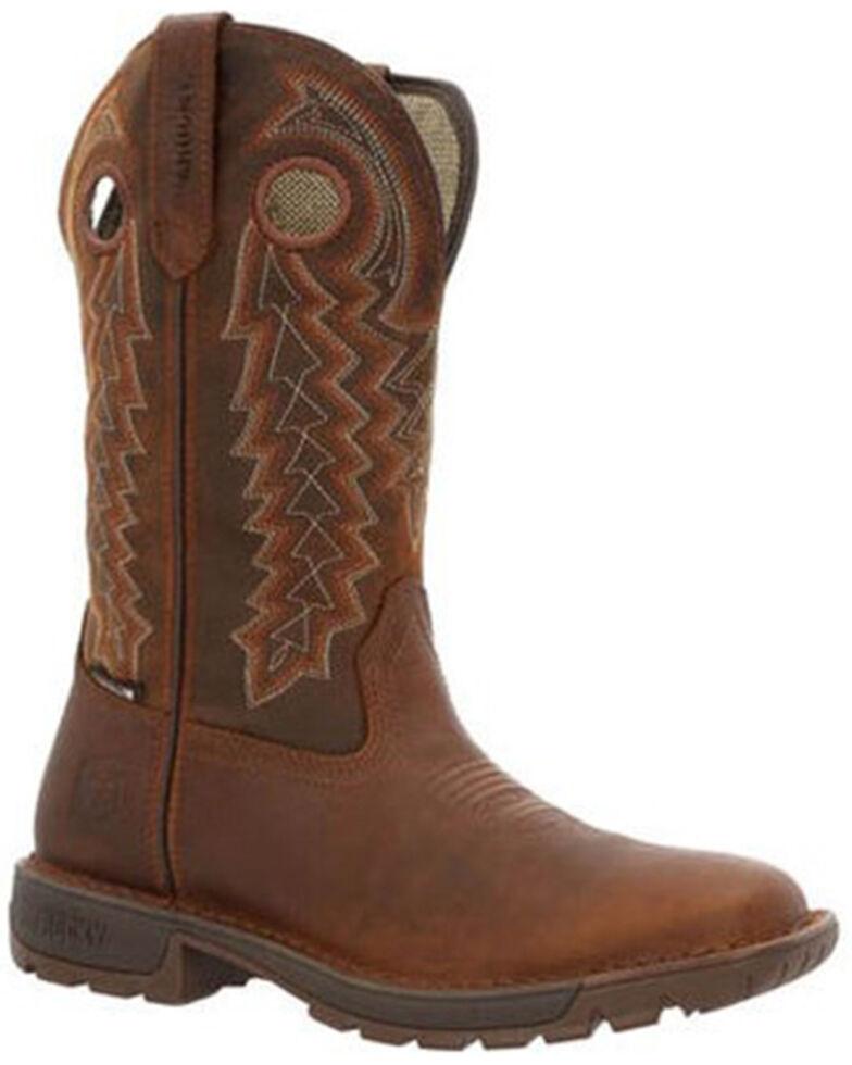 Rocky Women's Brown Legacy 32 Waterproof Pull-On Western Boot - Square Toe , Brown, hi-res