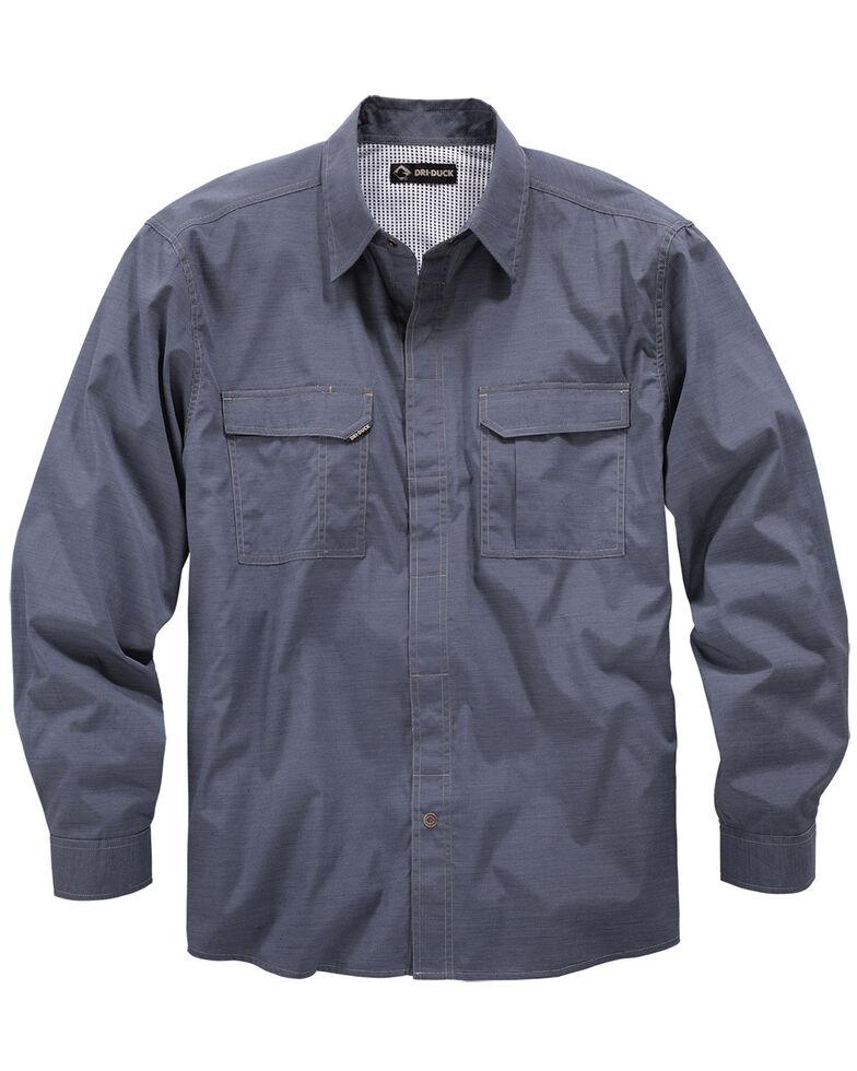 Dri Duck Men's Field Long Sleeve Work Shirt - Big & Tall , Dark Blue, hi-res
