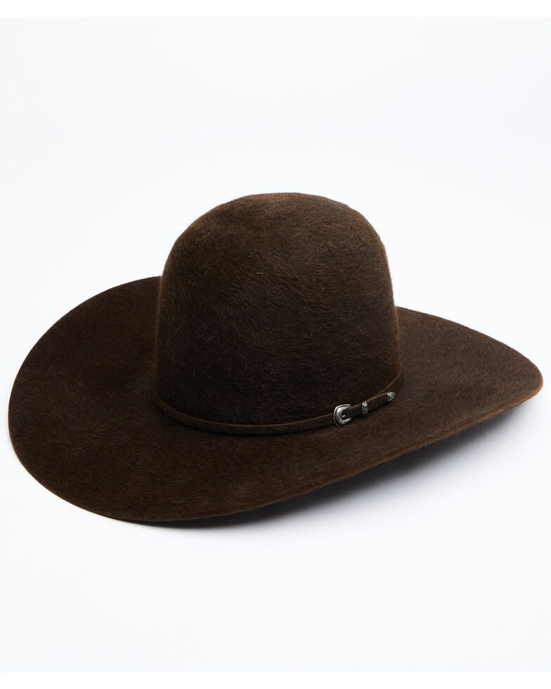 Rodeo King 10X Chocolate Grizzly Open Crown Western Felt Hat , Chocolate, hi-res