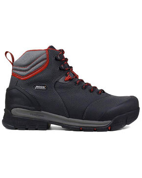 Bogs Men's Bedrock Waterproof Work Boots - Round Toe, Black, hi-res