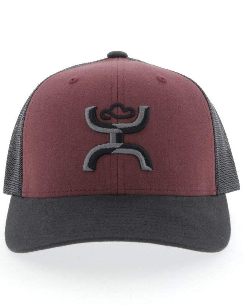 HOOey Men's Maroon Sterling Mesh Ball Cap , Maroon, hi-res