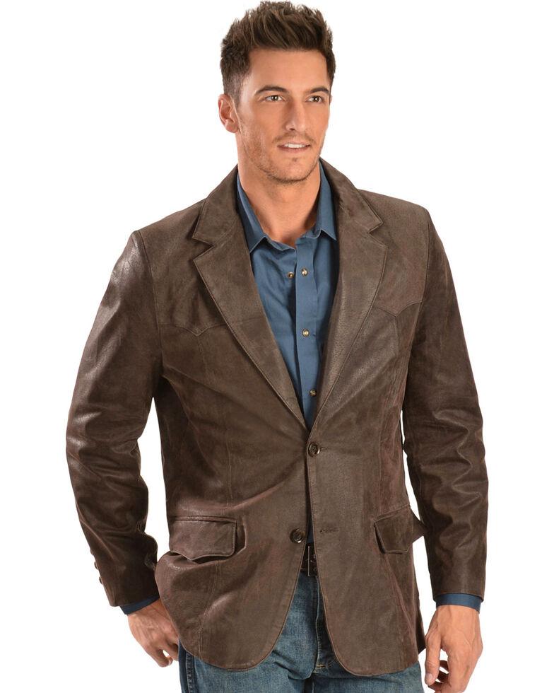 Cody James Men's Oakridge Western Leather Blazer - Big, Brown, hi-res