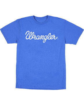 Wrangler Men's Blue Rope Logo Tee , Royal Blue, hi-res