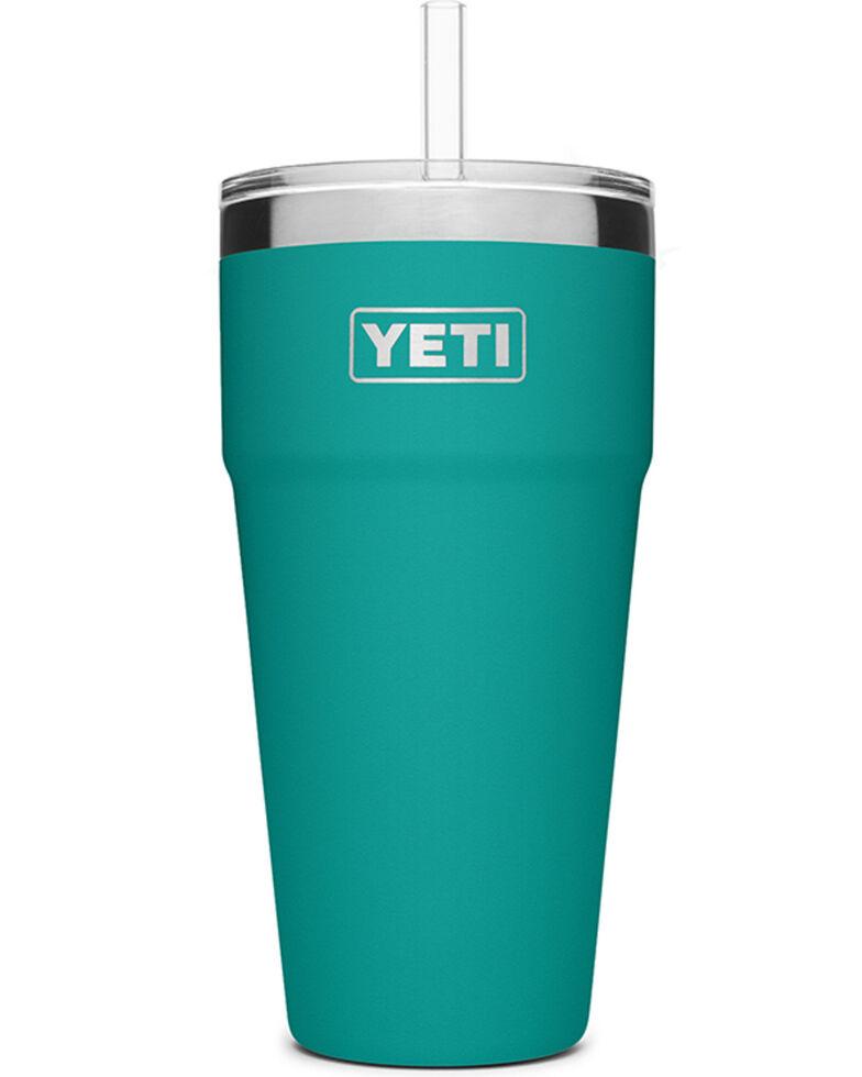 Yeti Rambler 26oz Blue Straw Cup, Blue, hi-res