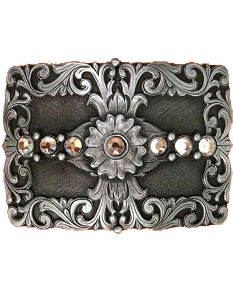 Shyanne® Women's Filigree Cross Belt Buckle, Silver, hi-res