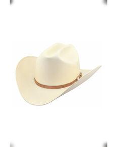 Larry Mahan Men's 30X Corona Cognac Full Quill Ostrich Band Straw Hat , Ivory, hi-res