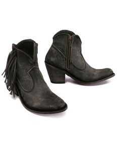 Liberty Black Women's Napa Cobre Gris Fashion Booties - Round Toe, Black, hi-res