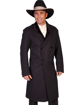 WahMaker by Scully Double-Breasted Wool Frock Coat, Black, hi-res