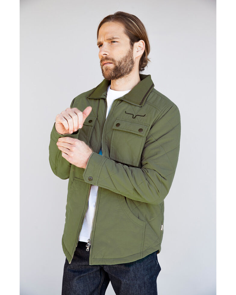 Kimes Ranch Men's Green Monitor Quilted Shirt Jacket, Green, hi-res