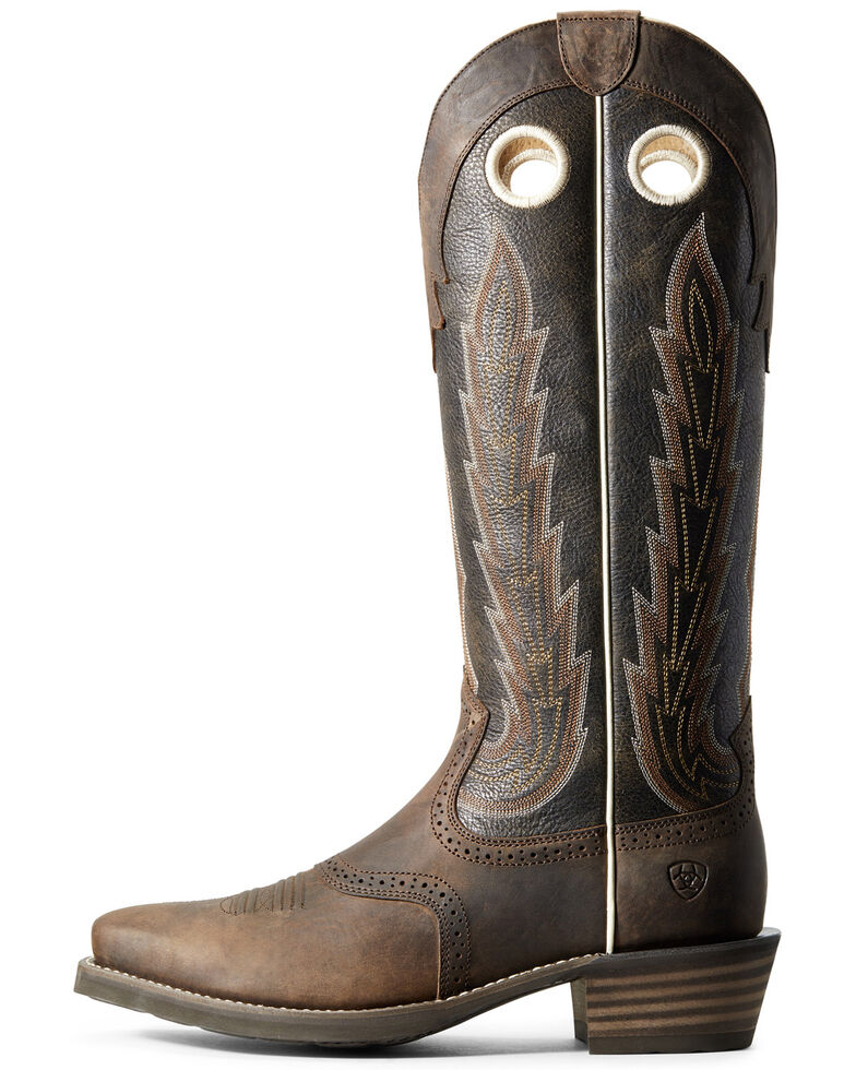 Ariat Men's Heritage Buckaroo Western Boots - Square Toe, Chocolate, hi-res