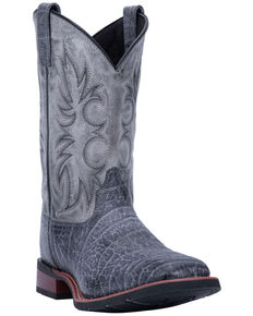 Laredo Men's Durant Grey Western Boots - Wide Square Toe, Grey, hi-res