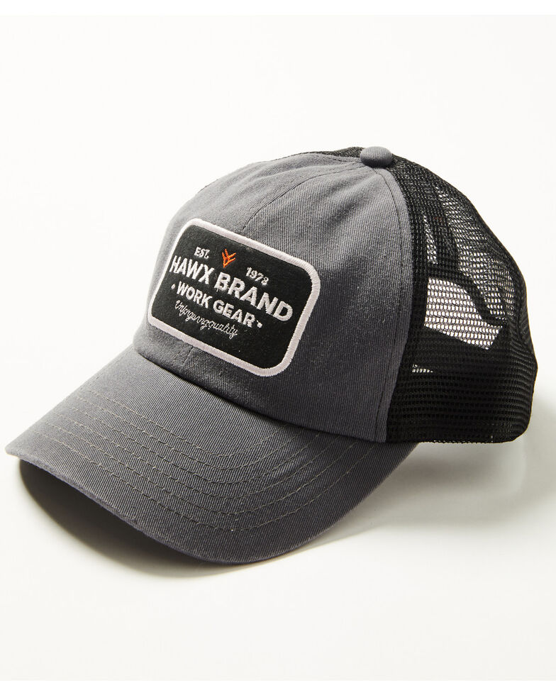 Hawx Men's Work Gear Patch Mesh-Back Ball Cap , Grey, hi-res