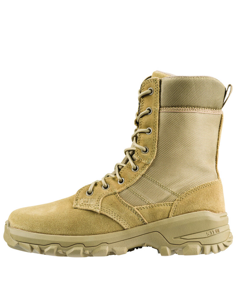 5.11 Tactical Men's Coyote Speed 3.0 Side Zip Boots - Round Toe, Tan, hi-res