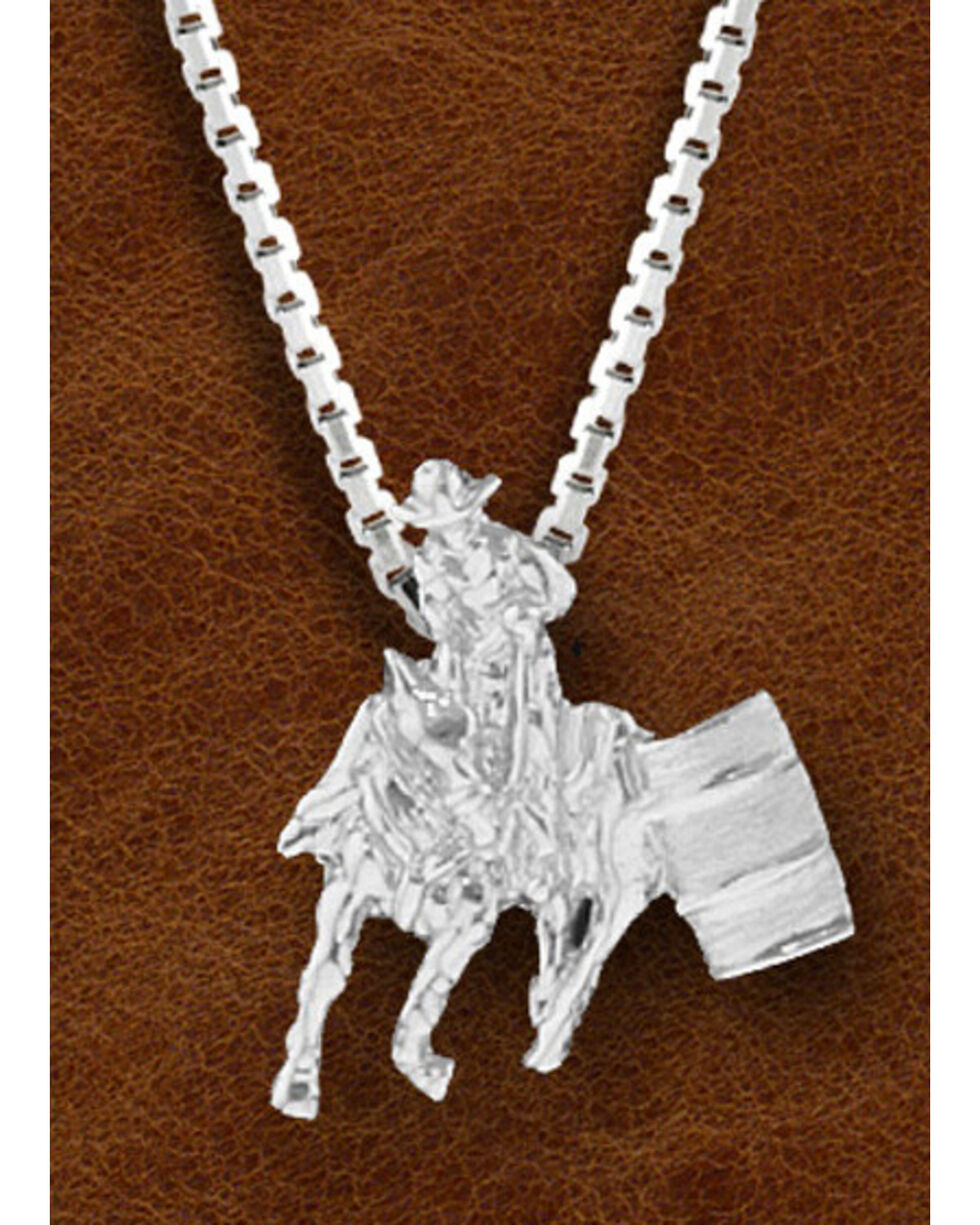 Kelly Herd Women's Sterling Silver Small Barrel Racer Necklace, Silver, hi-res