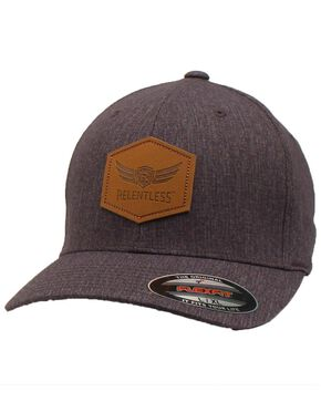 Ariat Men's Relentless Leather Patch Grey Cap , Black, hi-res