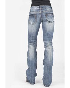 Stetson Women's 818 Contemporary Medium Bootcut Jeans, Blue, hi-res