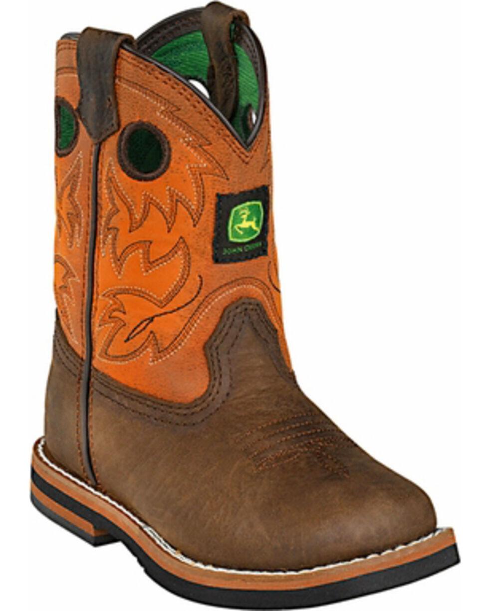 John Deere® Infant's Johnny Popper Western Boots, Brown, hi-res