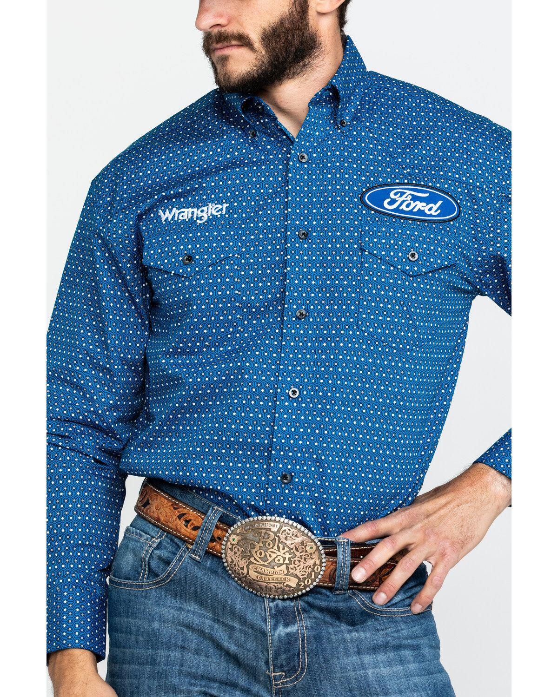 Ford Wrangler Men/'s Long Sleeve Button Up Shirt