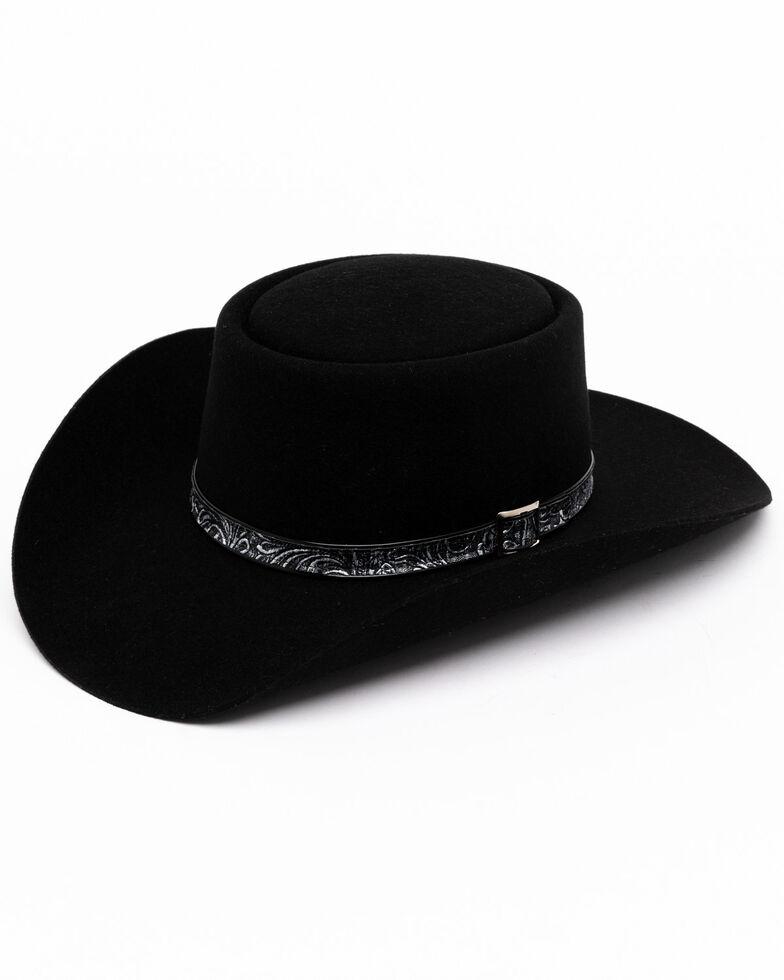 Stetson Men's Black Revenger Wool Felt Western Hat, Black, hi-res