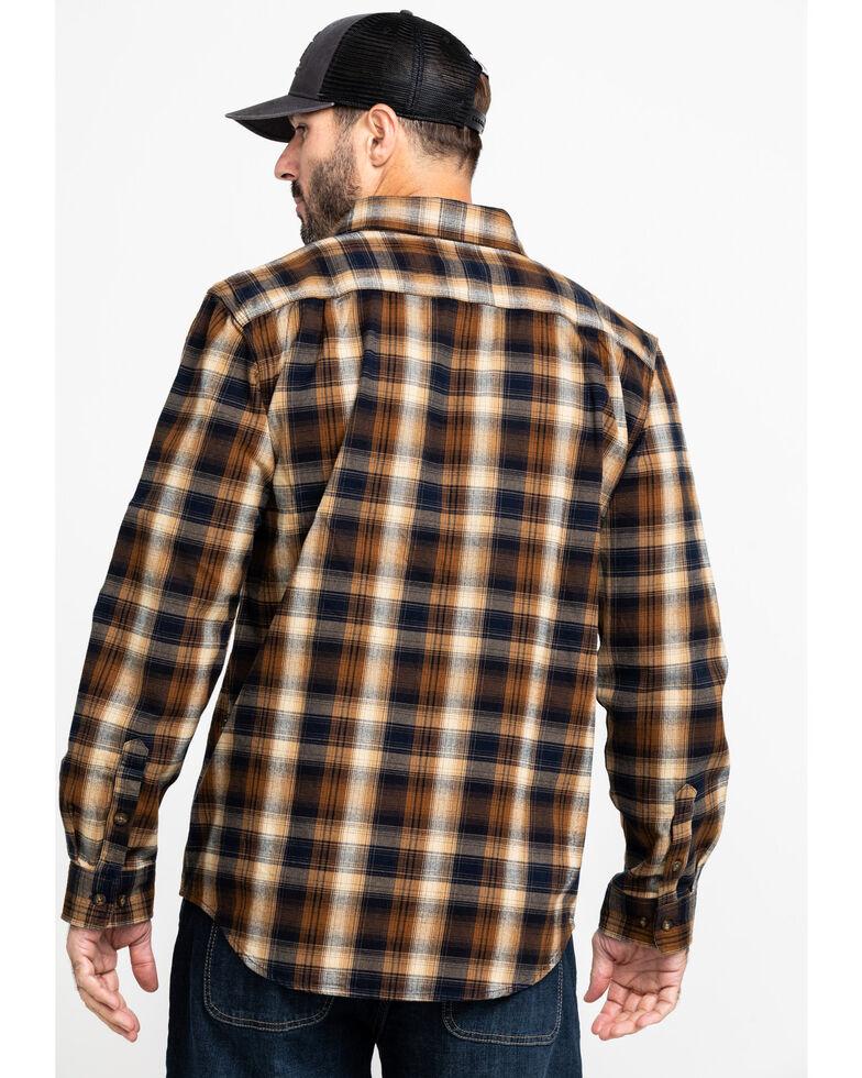 Carhartt Men's Navy Hubbard Flannel Long Sleeve Work Shirt - Big, Navy, hi-res