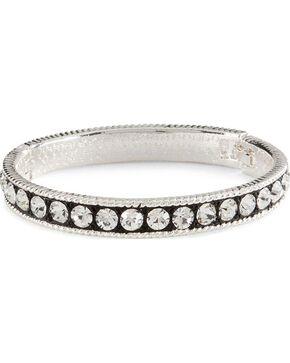 Montana Silversmiths Crystal Shine Bangle Bracelet, Silver, hi-res