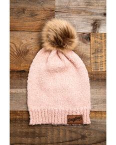 Idyllwind Women's Cozy Town Blush Pom Beanie, Pink, hi-res