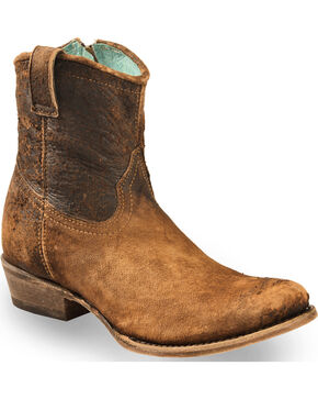 Corral Women's Lamb Abstract Short Western Boots, Chocolate, hi-res