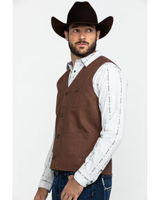Moonshine Spirit Men's Fleetwood Herringbone Concert Button Vest , Brown, hi-res