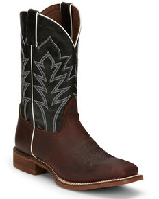 Nocona Men's Baylon Brown Western Boots - Square Toe, Brown, hi-res