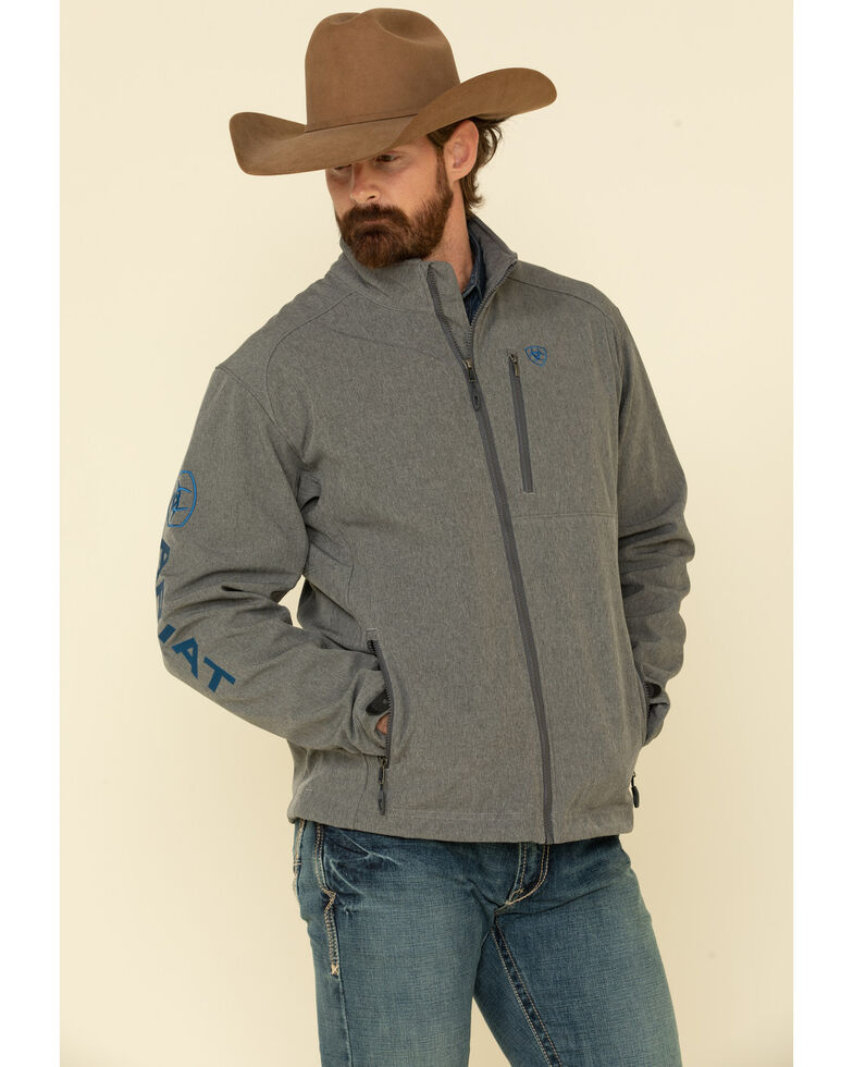 Ariat Men's Charcoal Logo 2.0 Softshell Jacket , Charcoal, hi-res