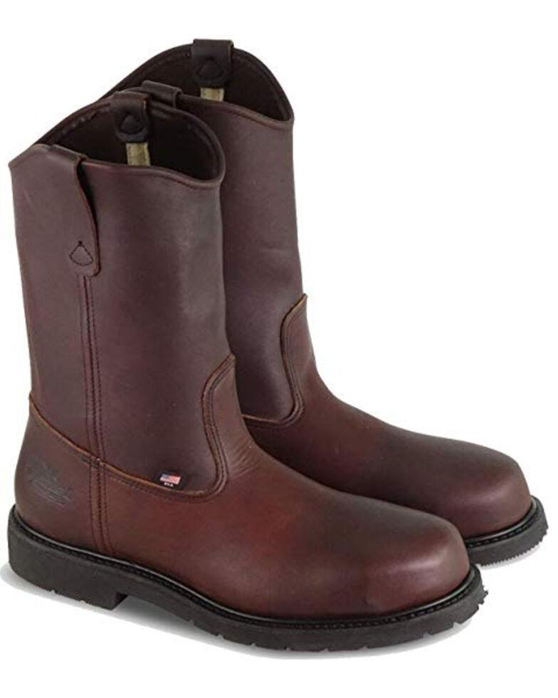Thorogood Men's Oil Rigger Western Work Boots - Steel Toe, Brown, hi-res